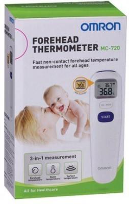 Omron MC-720 Forehead Non Contact Thermometer(White)