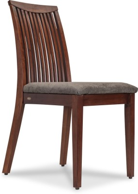 Durian CLAIRE Solid Wood Dining Chair(Set of 1, Finish Color - Dark Grey)