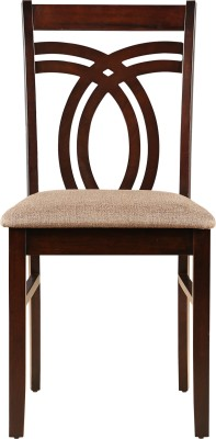 HomeTown Stella Solid Wood Dining Chair(Set of 2, Finish Color - Dark Walnut)