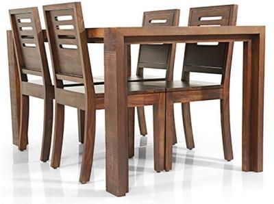 Urban Ladder Capra Solid Wood Dining Chair(Set of 2, Finish Color - Teak)
