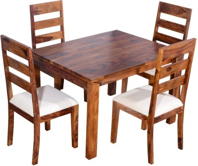 Ringabell Desire Four Seater Solid Wood 4 Seater Dining Set(Finish Color - Teak)