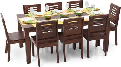 Urban Ladder Arabia XL - Capra Solid Wood 8 Seater Dining Set(Finish Color - Teak)