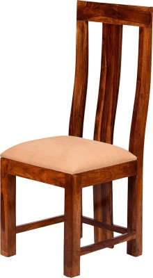 Induscraft Solid Wood Dining Chair Set Of 1 Finish Color Brown