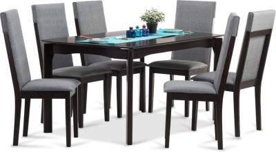 Durian GRANGER Engineered Wood 6 Seater Dining Set(Finish Color - Cappuccino)