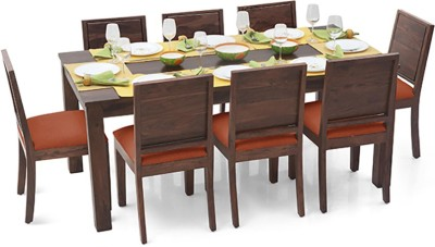 Urban Ladder Arabia XL - Oribi Solid Wood 8 Seater Dining Set(Finish Color - Teak)