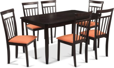 Durian NAPLES Engineered Wood 6 Seater Dining Set(Finish Color - Cappuccino)