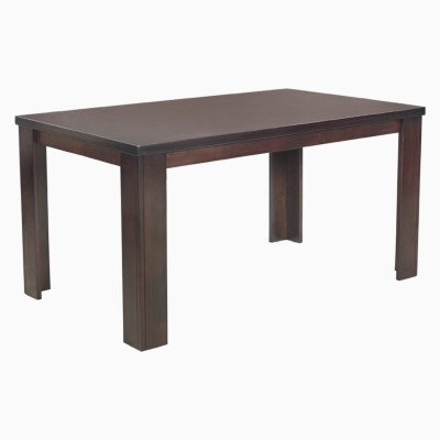 Godrej Interio JACK DINING TABLE BROWN BLACK Engineered Wood 6 Seater Dining Table(Finish Color - Brownish Black)
