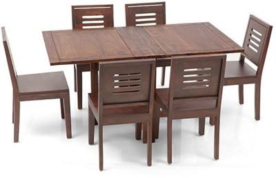 Urban Ladder Arabia XL Storage - Capra Solid Wood 6 Seater Dining Set(Finish Color - Teak)