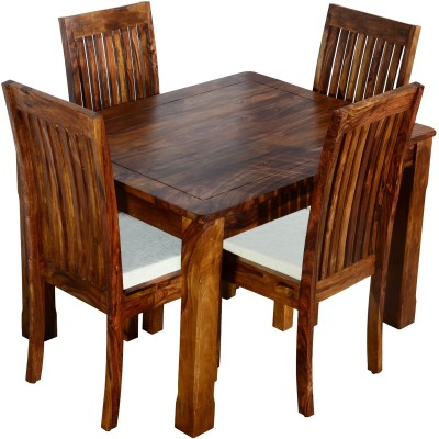 Ringabell Viand Four Seater Solid Wood 4 Seater Dining Set(Finish Color - Teak)