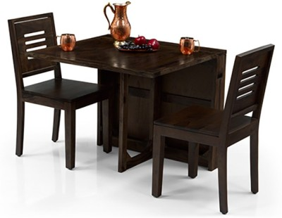 Urban Ladder Danton 3 - to - 6 Extendable - Capra 2 Seater Solid Wood 2 Seater Dining Set(Finish Color - Mahogany)