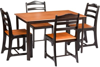 Parin Engineered Wood 4 Seater Dining Set(Finish Color - Brown and Tan)