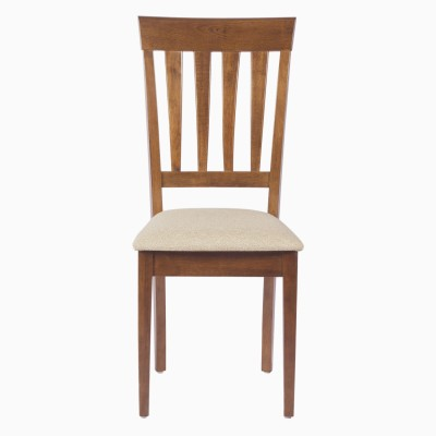Godrej Interio ALICIA DINING CHAIR WALNUT Solid Wood Dining Chair(Set of 2, Finish Color - Walnut)