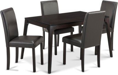 Durian DAWSON Engineered Wood 4 Seater Dining Set(Finish Color - Cappuccino)