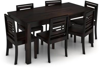 8ad7b25250220 Urban Ladder Arabia XL Storage - Capra Solid Wood 6 Seater Dining Set(Finish  Color - Mahogany)