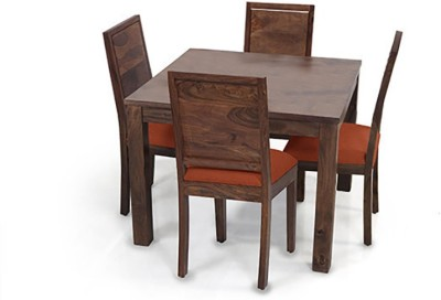 Urban Ladder Arabia Square - Oribi Solid Wood 4 Seater Dining Set(Finish Color - Teak)