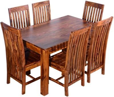 Ringabell Diet Six Staer Solid Wood 6 Seater Dining Set(Finish Color - Teak)