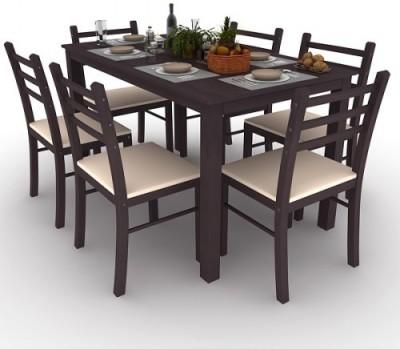 Housefull Engineered Wood 6 Seater Dining Set(Finish Color - WENGE)