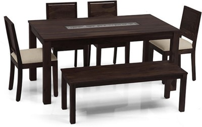 Urban Ladder Brighton - Oribi - Bench Solid Wood 6 Seater Dining Set(Finish Color - Mahogany)