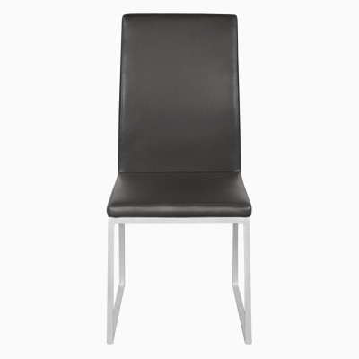 Godrej Interio NOVICE MODIFIED DINING CHAIR Leatherette Dining Chair(Set of 2, Finish Color - Silver::Black)