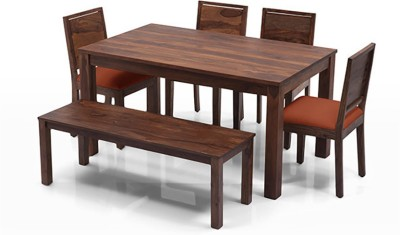 Urban Ladder Arabia - Oribi - Bench Solid Wood 6 Seater Dining Set(Finish Color - Teak)