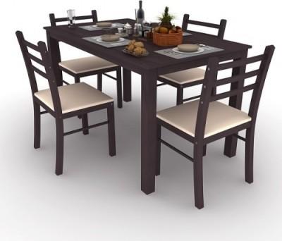 Housefull Engineered Wood 4 Seater Dining Set(Finish Color - WENGE)