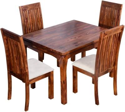 Ringabell Elmond Four Seater Solid Wood 4 Seater Dining Set(Finish Color - Teak)