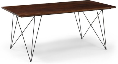 Urban Ladder Dyson Solid Wood 6 Seater Dining Table(Finish Color - Walnut)