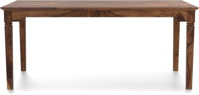 Urban Ladder Malabar XL Solid Wood 6 Seater Dining Table(Finish Color - Teak)