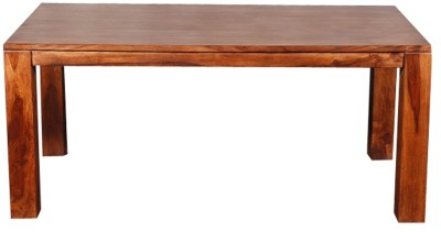 Evok Della Solid Wood 6 Seater Dining Table(Finish Color - Brown)