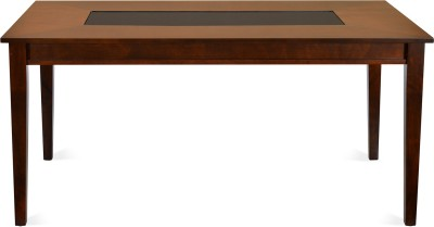 @home by Nilkamal Solid Wood 6 Seater Dining Table(Finish Color - Dark Walnut)  available at flipkart for Rs.16900