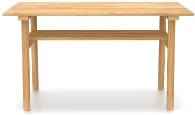 Urban Ladder Belua Solid Wood 4 Seater Dining Table(Finish Color - Natural)