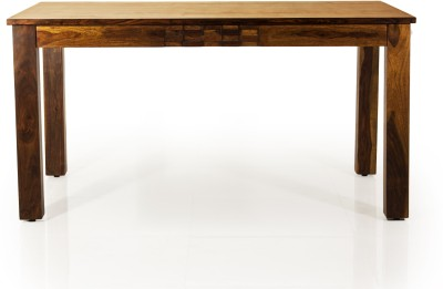 Evok Silvia Solid Wood 6 Seater Dining Table(Finish Color - Brown)