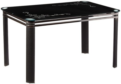 Parin Metal 4 Seater Dining Table(Finish Color - Black)