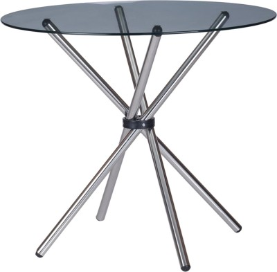 @home by Nilkamal Sturdy Glass 4 Seater Dining Table(Finish Color - Silver)  available at flipkart for Rs.4183
