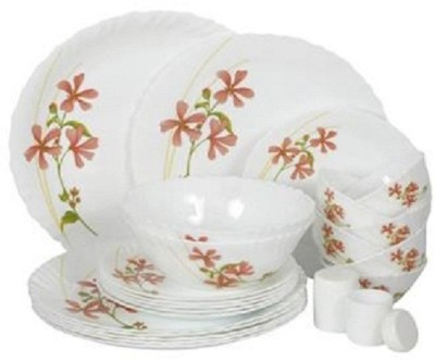 Laopala Coral charm Pack of 23 Dinner Set(Opalware, Glass) at flipkart