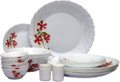 Laopala Coral charm Pack of 35 Dinner Set(Opalware, Glass) at flipkart