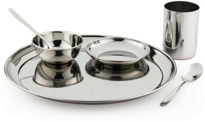 Pigeon Lunch Sparkle Pack of 6 Dinner Set(Stainless Steel)  available at flipkart for Rs.470