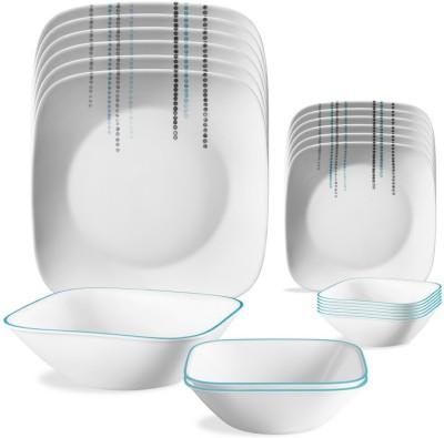 CORELLE Rain drops Pack of 21 Dinner Set(Glass) at flipkart