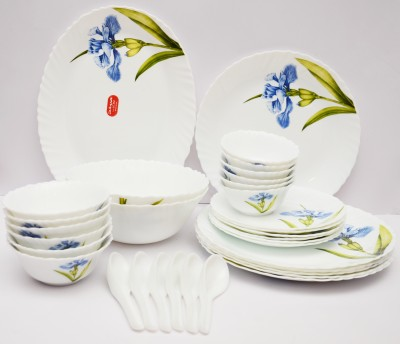Laopala Royal Iris Pack of 33 Dinner Set(Ceramic) at flipkart