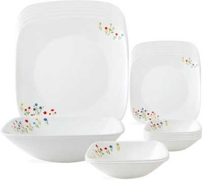 CORELLE Square Round Asia Flower Hill Square Round Pack of 21 Dinner Set(Glass)  available at flipkart for Rs.10906