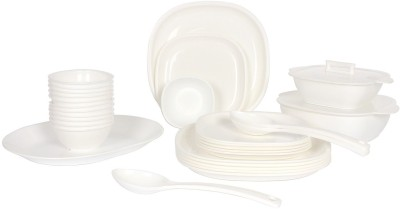 Crown Craft Pack of 32 Dinner Set(Plastic) at flipkart