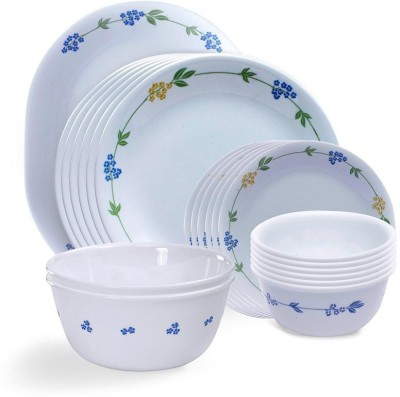 CORELLE Livingware Secret Garden Pack of 21 Dinner Set(Glass) at flipkart