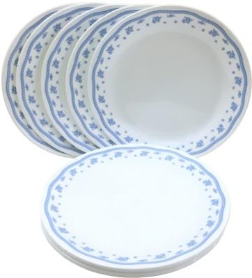 CORELLE Livingware Morning Blue Dinner Plate Pack of 6 Dinner Set(Glass) at flipkart