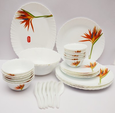 Laopala Flaming Grace Pack of 33 Dinner Set(Ceramic) at flipkart