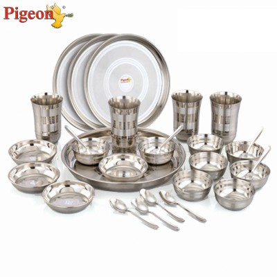 Pigeon Lunch Set Pack of 28 Dinner Set(Stainless Steel)  available at flipkart for Rs.1599