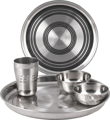 Jeenal Pack of 5 Dinner Set(Stainless Steel) at flipkart