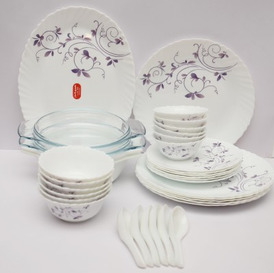 Laopala Dazzle Purple Pack of 35 Dinner Set(Ceramic) at flipkart