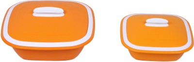 Cuttingedge Solitaire Casserole big & Small set of 2, Orange (Soli10_Oran) Pack of 2 Dinner Set(PP (Polypropylene)) at flipkart