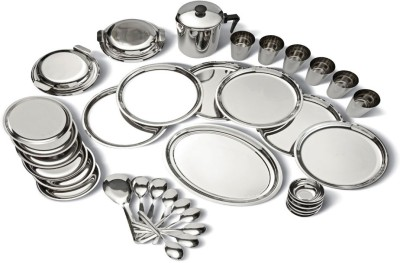 Butterfly Pack of 20 Stainless Steel 20 PCS Dinner Set(Microwave Safe)