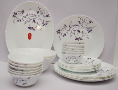 Laopala Dazzle Purple Pack of 27 Dinner Set(Ceramic) at flipkart